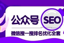 公众号SEO-微信搜一搜排名优化课,每日被动精准引流上百